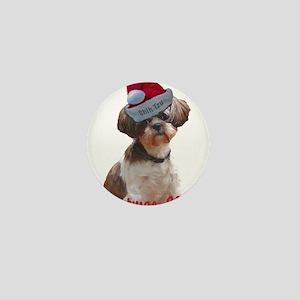 Shih Tzu Betsy Christmas Dog Mini Button