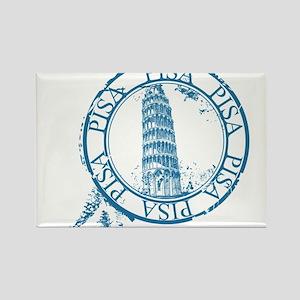 Pisa travel stamp Magnets