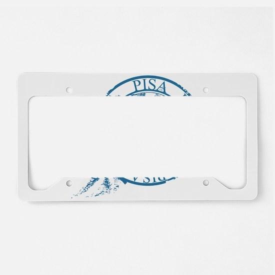 Pisa travel stamp License Plate Holder