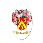 Turin Oval Car Magnet