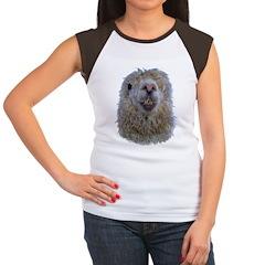 Alpaca Closeup Women's Cap Sleeve T-Shirt
