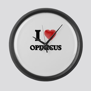 I love Opinicus Large Wall Clock