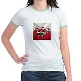 Greyhound christmas Jr. Ringer T-Shirt