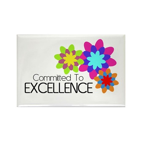 """""""Committed to Excellence"""" Rectangle Magnet (100 pa"""