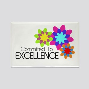 """""""Committed to Excellence"""" Rectangle Magnet"""