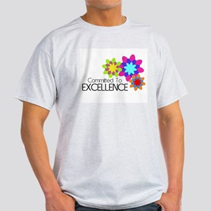 """Committed to Excellence"" Light T-Shirt"