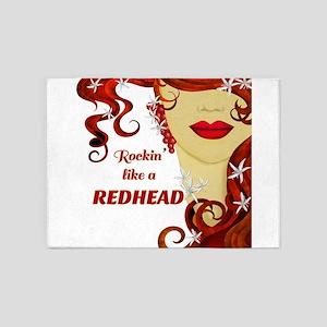 Rockin' like a REDHEAD 5'x7'Area Rug