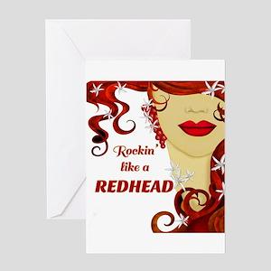 Rockin' like a REDHEAD Greeting Cards