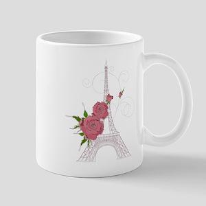 Vintage Eiffel tower design background Mugs