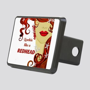 Rockin' like a REDHEAD Rectangular Hitch Cover