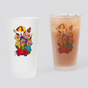 Clown kids in car design Drinking Glass