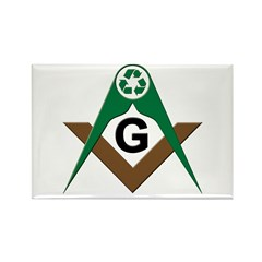 Masonic Recyclers Rectangle Magnet
