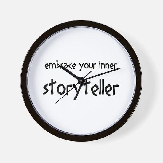 inner storyteller Wall Clock