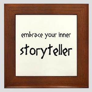 inner storyteller Framed Tile