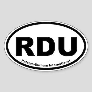 Raleigh-Durham International Oval Sticker