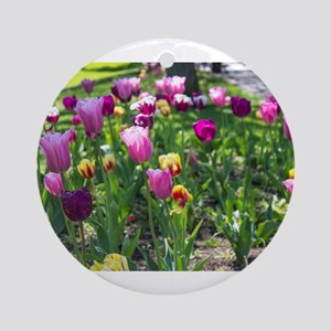 Tulips Park Gardens Round Ornament