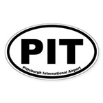 Pittsburgh International Airport Oval Sticker