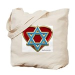 Heart Of Israel Tote Bag