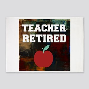 Teacher Retired 5'x7'Area Rug