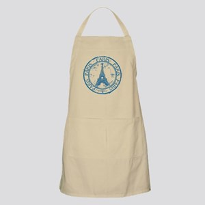 Paris travel stamp Apron