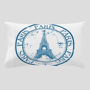 Paris travel stamp Pillow Case