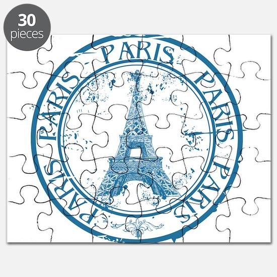 Paris travel stamp Puzzle