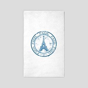 Paris travel stamp Area Rug