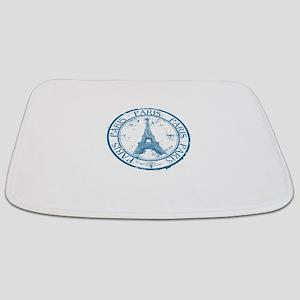 Paris travel stamp Bathmat