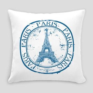Paris travel stamp Everyday Pillow