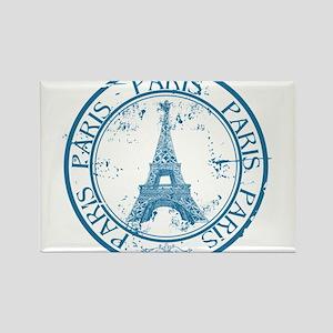 Paris travel stamp Magnets