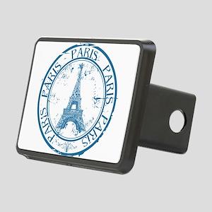 Paris travel stamp Rectangular Hitch Cover