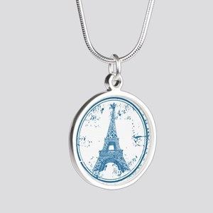 Paris travel stamp Necklaces