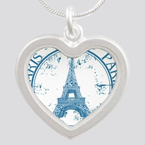 Paris travel stamp Necklaces