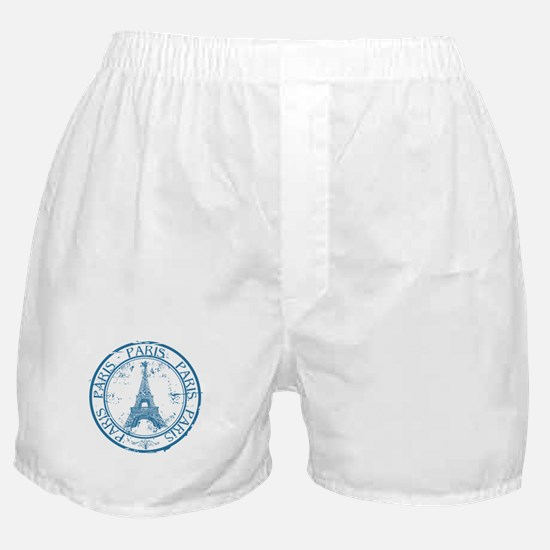 Paris travel stamp Boxer Shorts