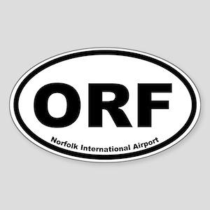 Norfolk International Airport Oval Sticker