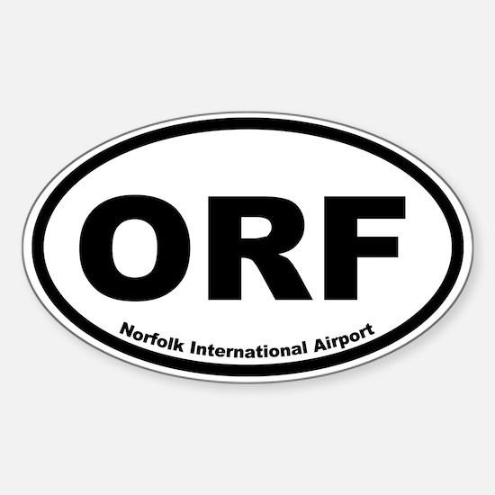 Norfolk International Airport Oval Decal