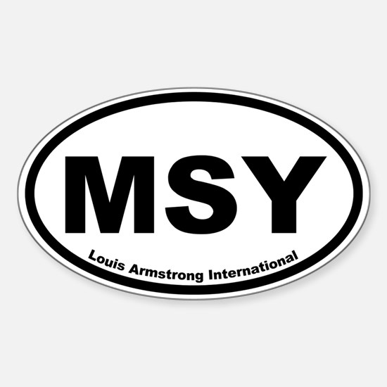 Louis Armstrong International Oval Decal