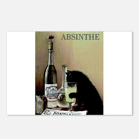 Funny Absinthe art Postcards (Package of 8)