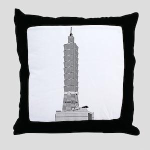 Taipei tower skyscrapers Throw Pillow