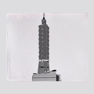 Taipei tower skyscrapers Throw Blanket