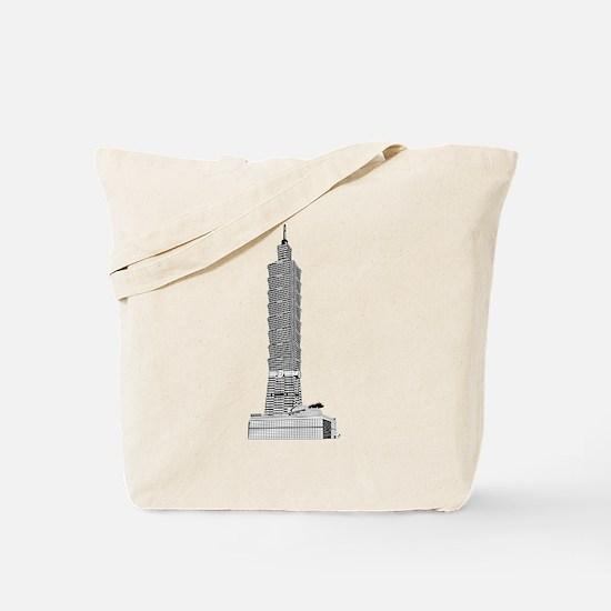 Taipei tower skyscrapers Tote Bag