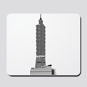 Taipei tower skyscrapers Mousepad