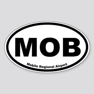Mobile Regional Airport Oval Sticker