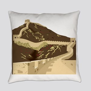 Great wall of china Everyday Pillow