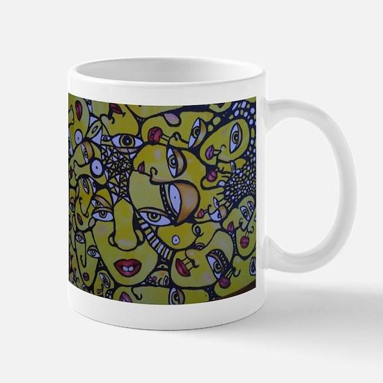 Yellow Faces Mugs