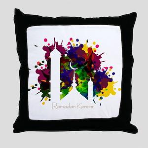 Colorful Ramadan Kareem design Throw Pillow