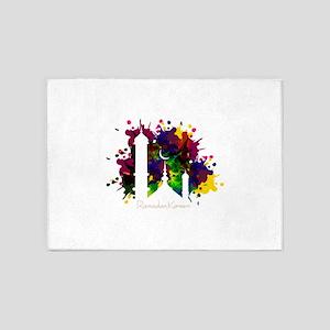 Colorful Ramadan Kareem design 5'x7'Area Rug