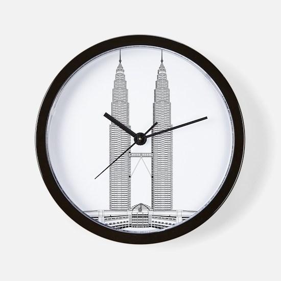 Malaysian Petronas Towers skyscraper Wall Clock