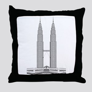 Malaysian Petronas Towers skyscraper Throw Pillow
