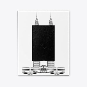 Malaysian Petronas Towers skyscraper Picture Frame